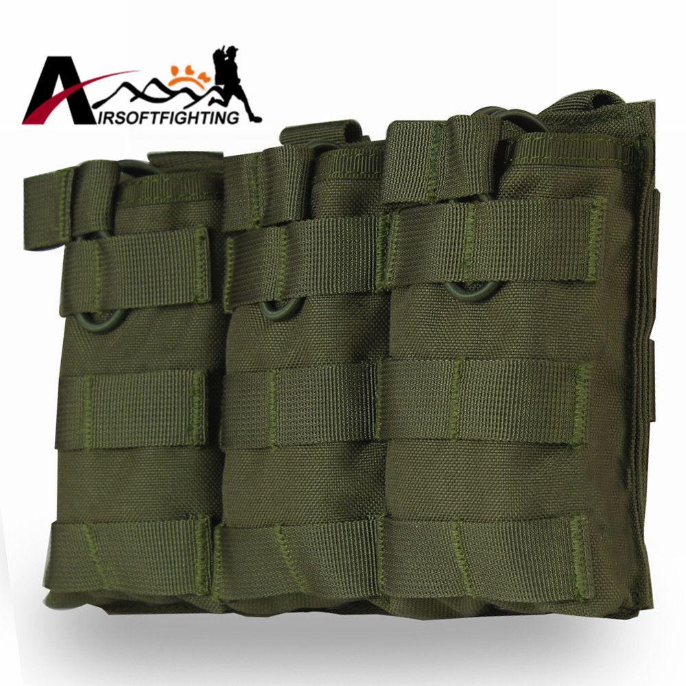 Тактический Молл жилет тройной с открытым верхом подсумок быстро AK AR M4 FAMAS подсумок Airsoft Охота журнал кобура сумка