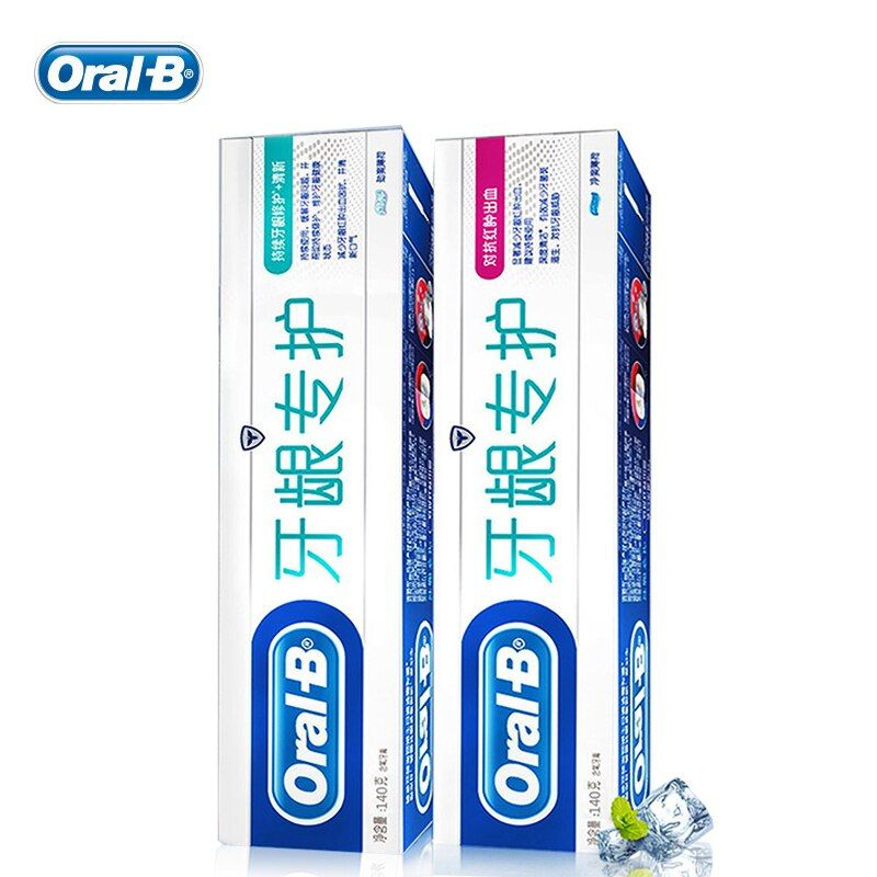 Oral B Toothpaste 140g*2 Combination Fight Swelling Bleeding Daily Gum Care Teeth Pastes mint herbal toothpaste oral hygiene