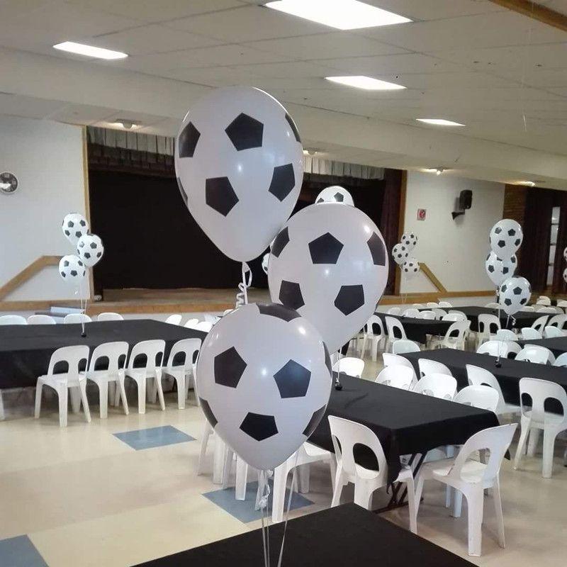 100 pcs/lot 12 pouces Épaissir Football Ballon Blanc Couleur Enfants Jouets Football Ballon Bébé Douche Décoration Parti Ballon Fournitures