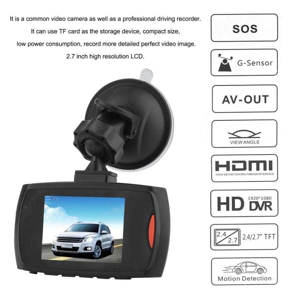 HD 720 p Voiture DVR Caméra Dash Cam Vidéo 2.4 pouces LCD LCD DisplayNight Vision Véhicule Caméra Enregistreur Nuit Vision drop shipping