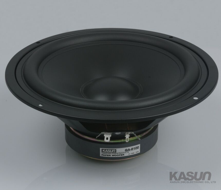 2PCS KASUN QA-8100 8inch Woofer Speaker Driver Unit Paper Cone 8ohm/140W Dia 218mm Fs 45Hz