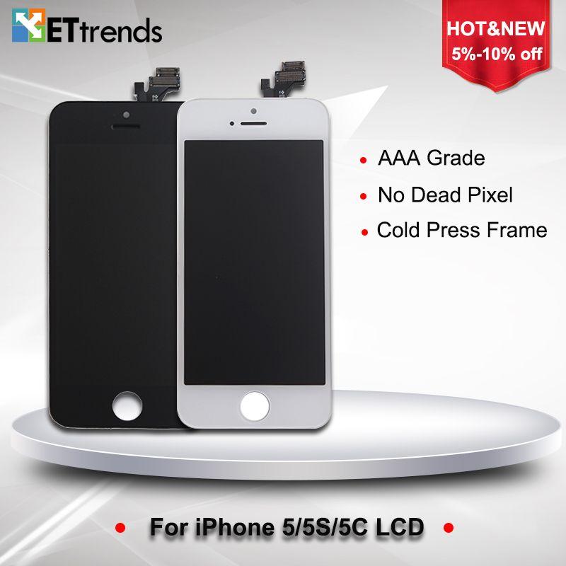40 PCS/LOT AAA Top qualité LCD affichage Pour iPhone 5/5S/5C LCD Tactile En Verre Digitizer Écran Assemblée livraison Gratuite par DHL--ET