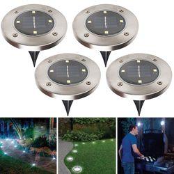 Impermeable Solar Powered LED luces solares (Conjunto de 4) jardín al aire libre escalera según lo visto en TV Muebles Accesorios