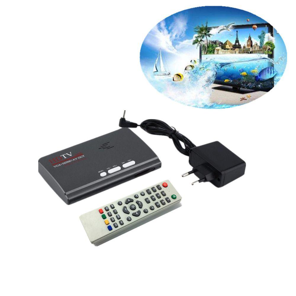 LNOP DVB-T DVB-T2 reveiver Digital Terrestrial HDMI 1080P DVB-T DVB-T2  VGA AV CVBS TV Tuner Receiver With Remote Control