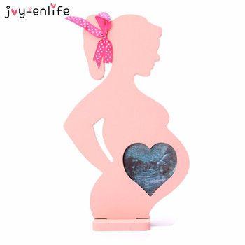 1 pcs En Bois cadres pour les femmes enceintes cadeau photo cadre Photo bébé cadre photo balançoires bébé pleine lune Cadre La Maison décoration