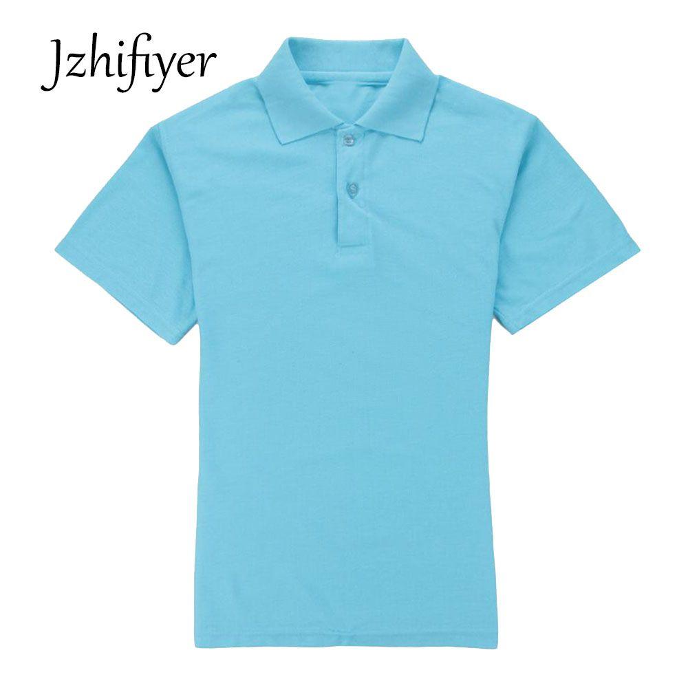 Jzhifiyer polo shirt women polyester+cotton 200G short-sleeve eyelet plain slim polo shirt women mujer camisa polo