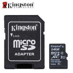 Kingston Micro SD Carte Mémoire Carte avec Adaptateur 16 GB 32 GB 64 GB Classe 10 Memoria SDHC SDXC TF SD Carte Pour Smartphone