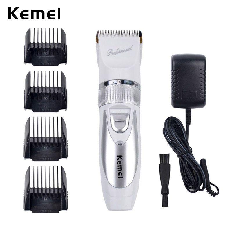 110 V-220 V Incluye Batería Lámina de Titanio de Pelo Kemei Profesional Hair Trimmer Eléctrico Clipper Cortadora Esquilador-S5859