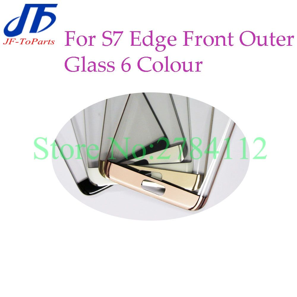 2pcs 5.5 LCD Touch Screen panel replacement for Samsung Galaxy S7 Edge G935 G935T G935F Front Outer Glass Lens 6 colour