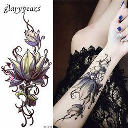 Glaryyears 26 дизайнов 1 лист поддельный Черный Алфавит тело татуировки стикер новый временный водонепроницаемый рука шеи DIY искусство для женщин...