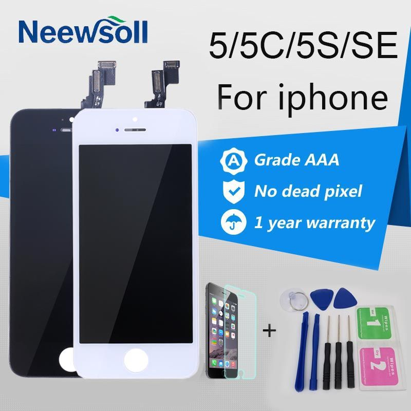 Neewsoll AAA Qualité LCD Écran Pour iPhone 5 5S 5C SE LCD Écran Pour Iphone 5 Écran Tactile Digitizer