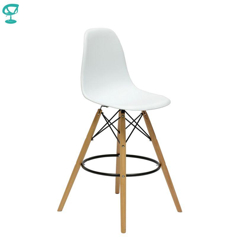 94892 Barneo N-11 Kunststoff Holz Hohe Küche Frühstück Bar Hocker Bar Stuhl Küche Möbel Weiß kostenloser versand in Russland