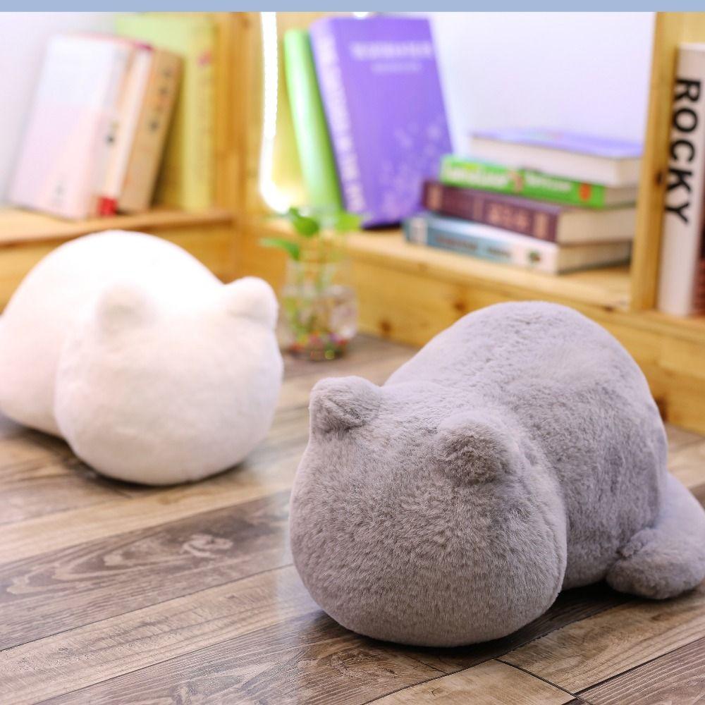 Ashin chat en peluche coussins oreiller dos ombre chat rempli animal oreiller jouets enfants cadeau décor à la maison pour noël