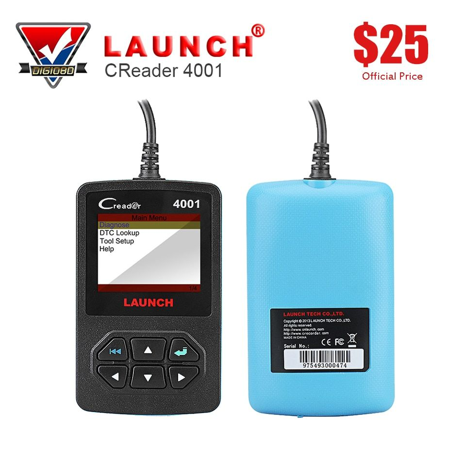 LAUNCH Creader 4001 OBD2 Auto Scanner Diagnostic Tool Car Code Reader for Turning Off Check Engine Light Read Erase Fault Code