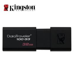 Kingston USB 3,0 Pen Drive 16 GB 32 GB 64 GB 128 GB unidad Flash USB Mental Pendrive Stick anillo memoria Flash Memoria USB DT100G3