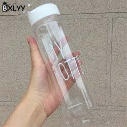 BXLYY Christmas Decor 500ml Portable Water Bottle Leakproof Plastic Sports Kettle Party Supplies Sports Shaker Water Bottle.7z