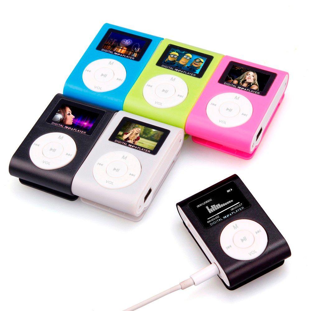 Top Verkauf reproductor mp3-player Lcd-bildschirm Mini USB Clip Mp3-player Unterstützung 32 GB Micro SD TF Karte # UO