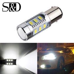 1157 BAY15D led COCHE bombillas 12 SMD chip Samsung 5630 cree chips lámpara de alta potencia 21/5 W trasera luces fuente de estacionamiento blanco 12 V D015