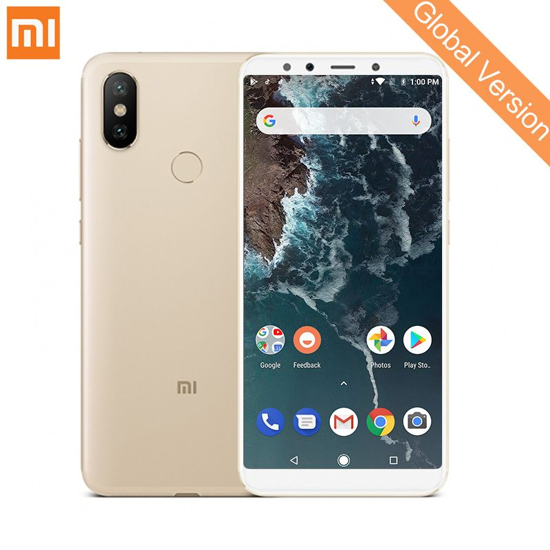 In Stock Global Version Xiaomi Mi A2 6GB 128GB Smartphone Snapdragon 660 Octa Core 20.0MP AI Dual Camera 5.99