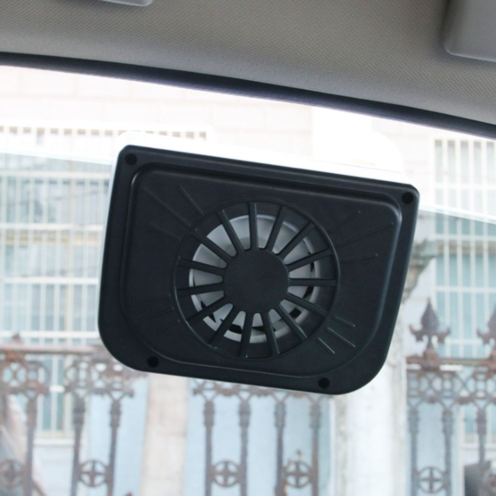 Black Solar Powered Car Interior Cooler Vehicle  Air Radiator Ventilation System Auto Air Vent Cool Fan