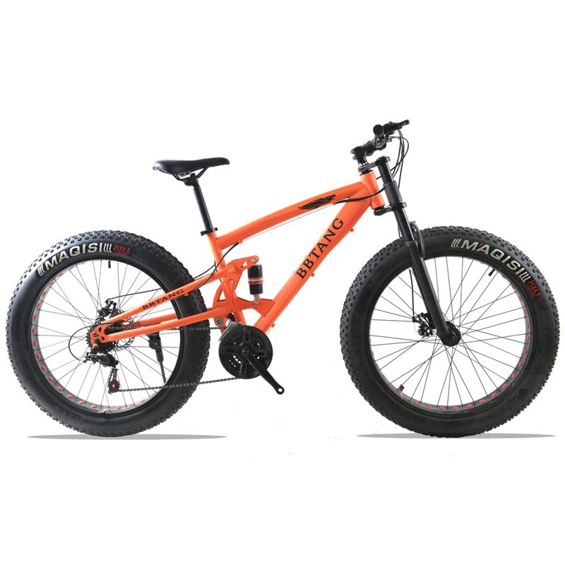 fat bike 26X4.0 mountain bike 21 speed bicycle road bicycles Front and Rear Mechanical Disc Brake Spring Fork
