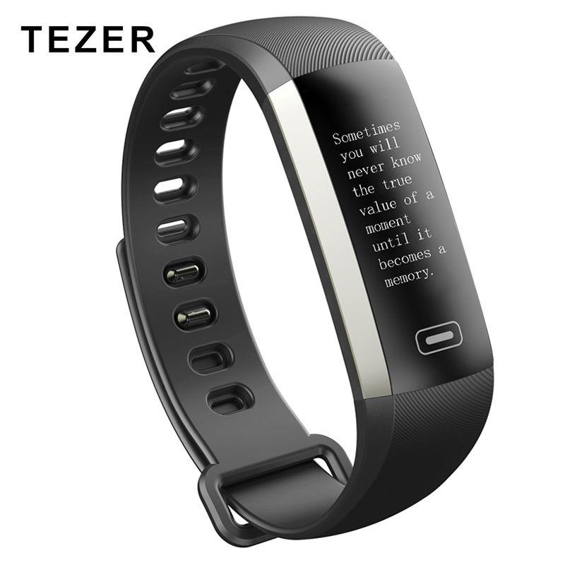 Tezer R5MAX Smart Band Heartrate <font><b>Blood</b></font> Pressure Oxygen Oximeter Sport Bracelet Clock Watch Inteligente Pulso For iOS Android Men