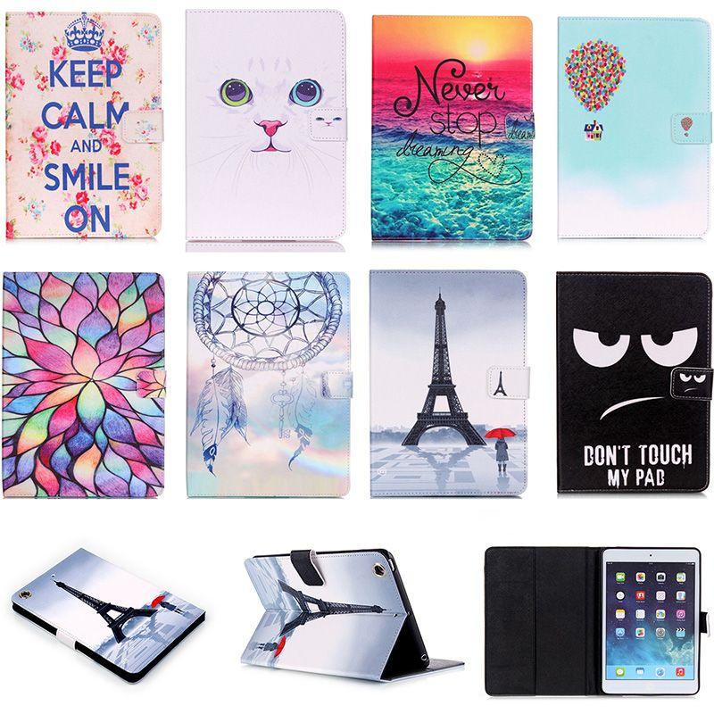 Pour Apple iPad mini 1 2 3 Cas D'UNITÉ CENTRALE De Mode En Cuir Flip cas Pour iPad mini1 mini2 mini3 7.9 ''Smart Tablet Stand Fente Pour Carte DP00G