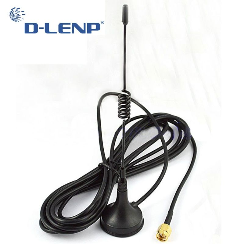 Dlenp 433Mhz 5dbi Antenna 433 MHz GSM antenna SMA Male Connector w/ Magnetic base for Ham Radio Signal Booster Wireless Repeater