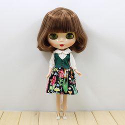 Gratis Pengiriman Blyth Doll 130BL9158 Coklat Rambut Pendek Tubuh Normal 30 Cm 1/6 Hadiah Mainan