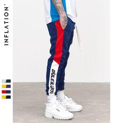 L'INFLATION 2018 Nouveau Automne Hommes Sweatswear Pantalon Impression Côté Bande Poches Hommes Vintage pantalons de Survêtement 353W17