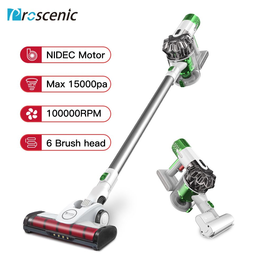 Proscenic P9 High Power Staubsauger Led Licht Tragbare Handheld Cordless Stick Vakuum 3 in 1