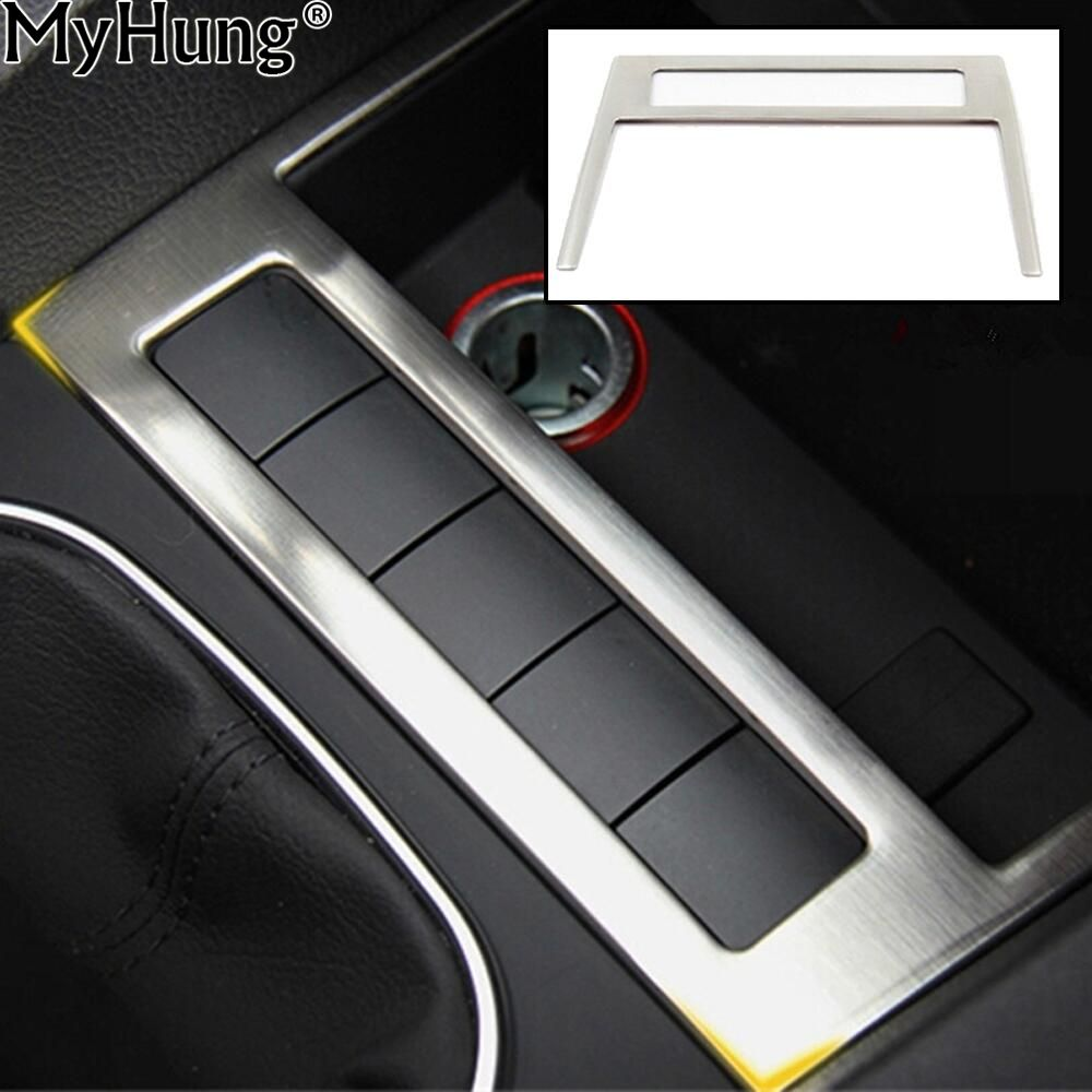 For Volkswagen Vw Jetta MK6 Trim Stainless Steel USB Decoration Cover Trim  New High Quality Auto Prats 1pc