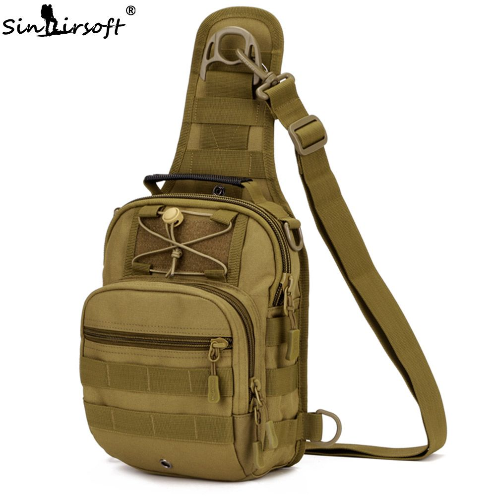 SINAIRSOFT Sport Hunting Men Military Tactical MOLLE Single Shoulder bags Nylon Wading <font><b>Chest</b></font> Pack Unisex LY0001 LY0002