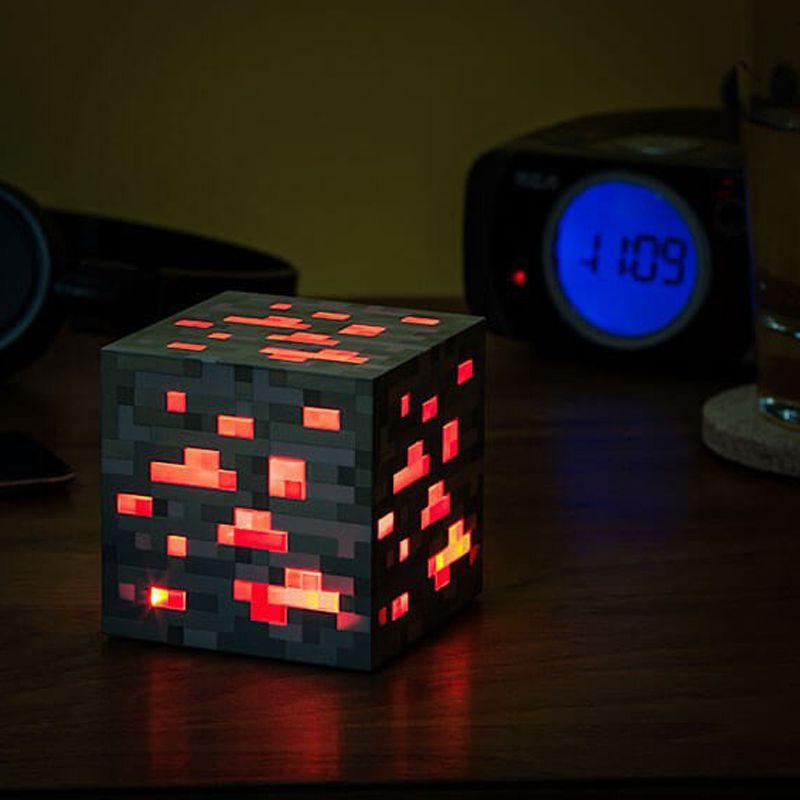 Minecraft Light Up Redstone Ore Square Minecraft Night light LED Minecraft Figure Toys Light Up Diamond Ore #E