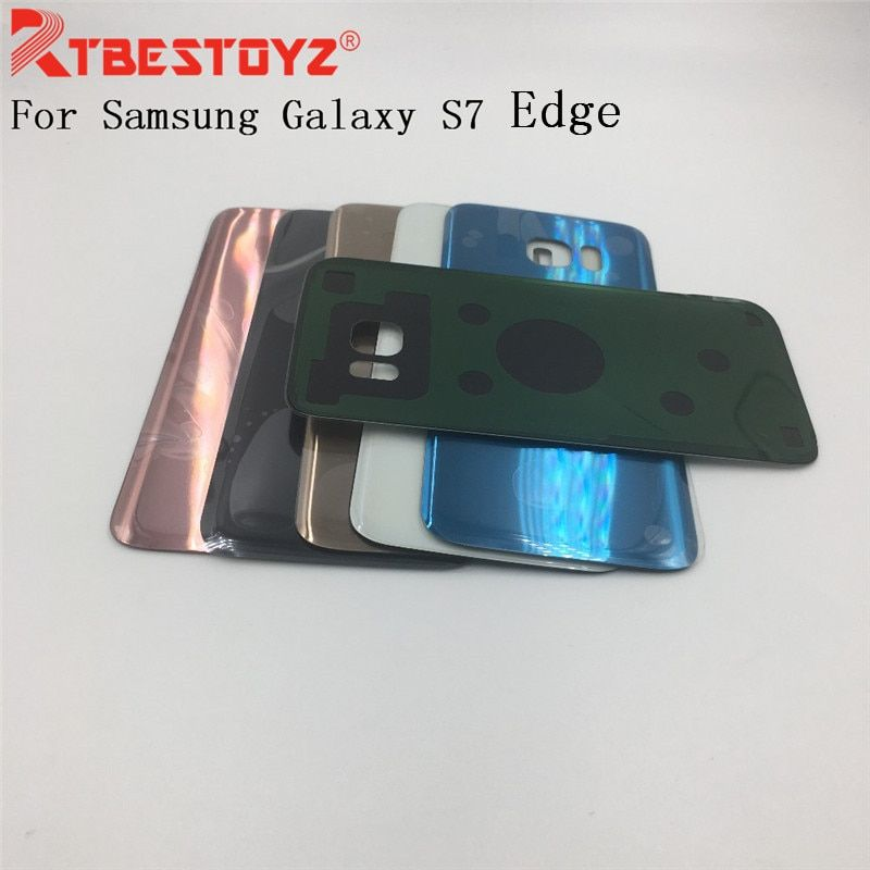 RTBESTOYZ Replacement For Samsung Galaxy S7 Edge G935 G935F G935H Back Battery Cover Door Rear Glass Housing Case Battery Cover