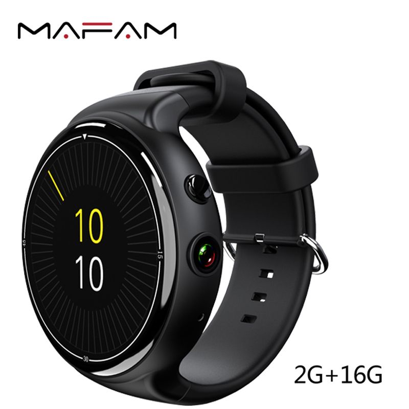 MAFAM 3G Smart Wrist Watch Phone 2GB 16GB 5MP Camera Voice Search Pedometer Heart Rate Monitor I4 Air