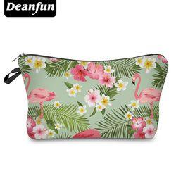 Deanfun 3D Gedruckt Kosmetik Taschen Flamingo und Blume Necessaries für Reisen Lagerung Make-Up 51055
