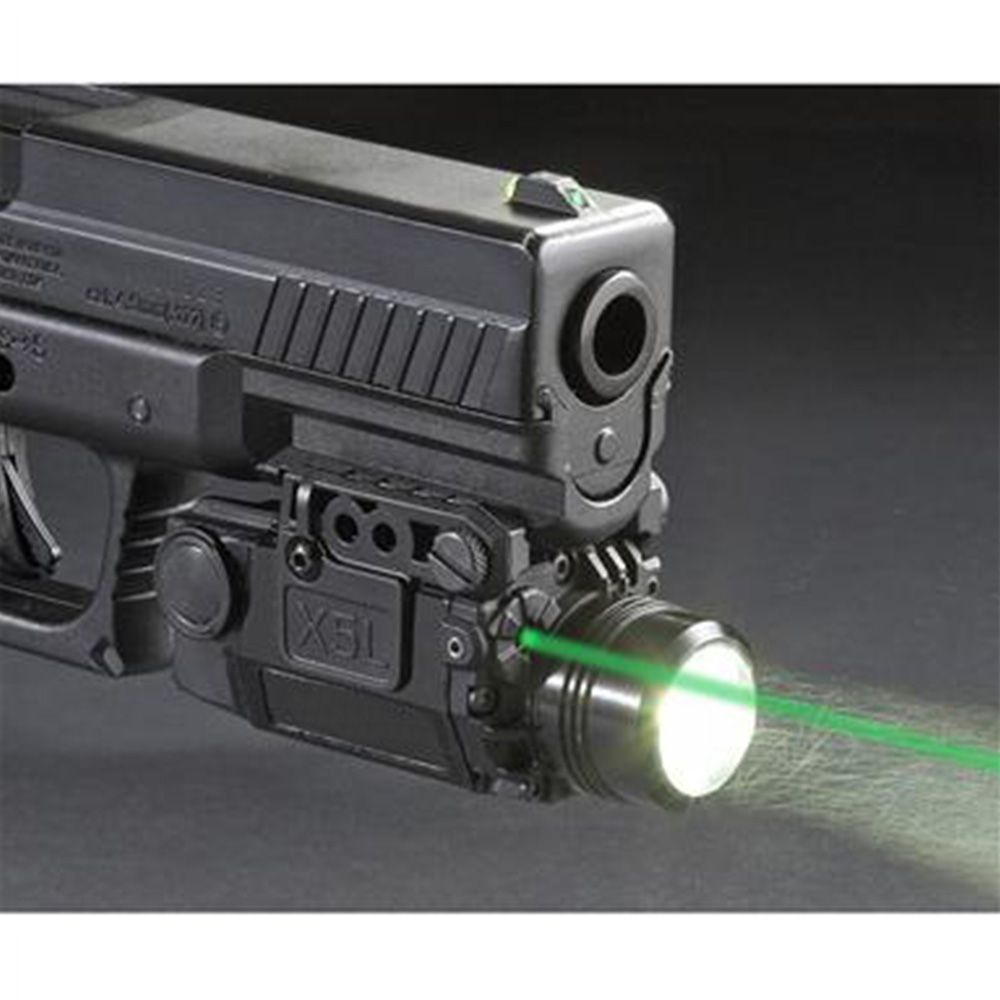 2in1 Tactical X5L LED Flashlight Combo Green Laser Sight Universal Pistol Gun Mira Laser Pistola For Airsoft Glock 17 19 Series