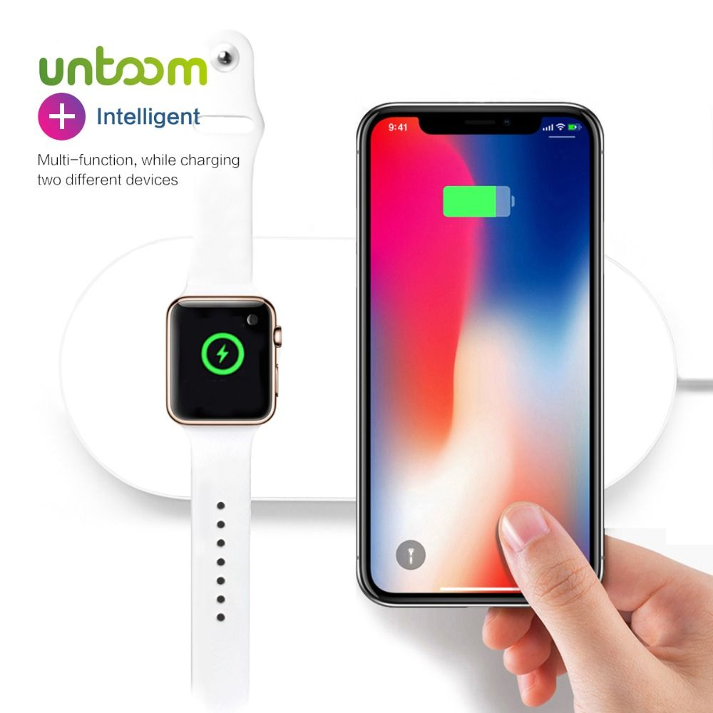 Airpower For iWatch 2 3 QI Wireless Charger For iPhone X 8 8plus Quick Fast Charging Pad For Apple Watch Sumsang S9 S8 S7 S6