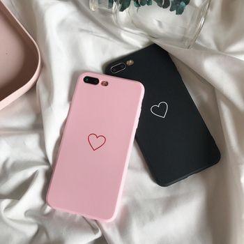 Mode Souple En Silicone Amour Cas Pour iPhone X 10 Dix 8 7 6 6 S Plus 7 Plus Couvercle du Boîtier Téléphone Protecteur Coque Anti-Slip Fundas Noir