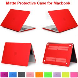 Matte Case for Macbook Air 11 13 Retina 12 Pro 13 15 Protector Cover Shell For MacbookPro Touch Bar 13.3 A1706 A1989 15.4 A1707