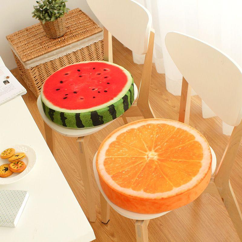 40x40 cm Creative 3D fruits PP coton oreillers bureau chaise coussins canapé couvertures oreillers maison oreillers décoration almofadas cadeaux