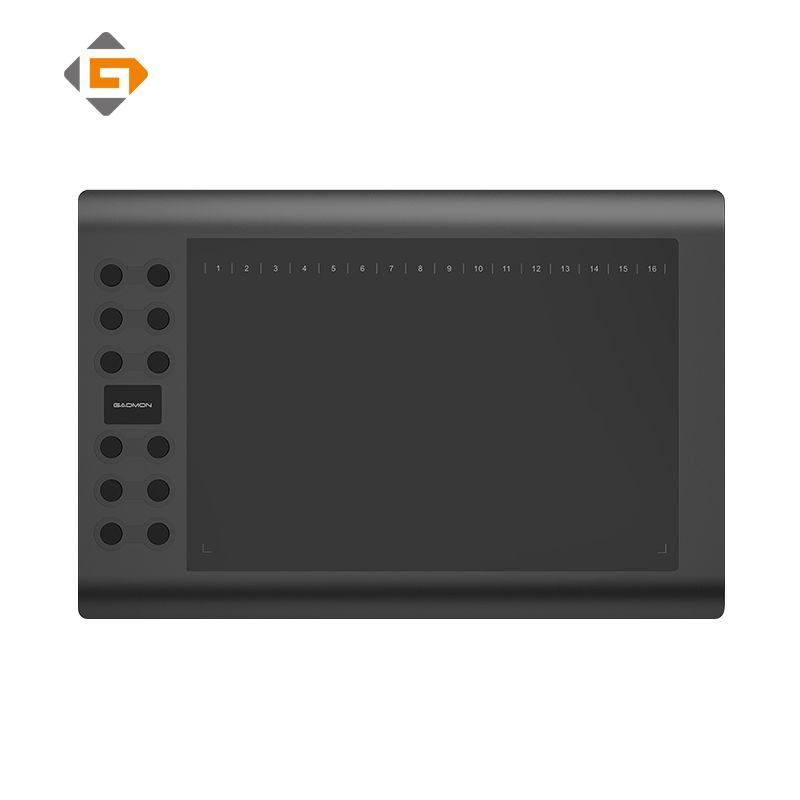 Gafairy M106K-10 pouces tablette graphique numérique professionnelle pour dessin et peinture tableau d'écriture d'art avec stylo Rechargeable USB