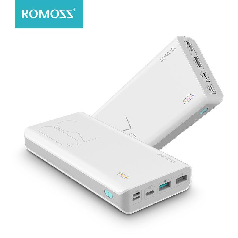 30000mAh ROMOSS Sense 8 + batterie externe Portable batterie externe avec QC chargeur Portable à chargement rapide bidirectionnel pour téléphones tablette