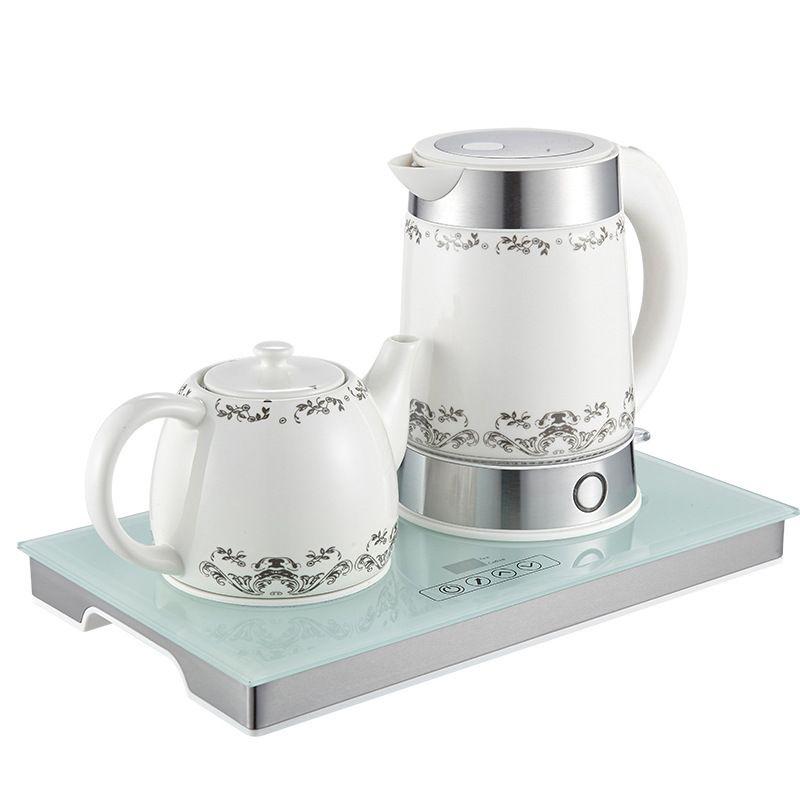 Ceramic Insulation Heating Water Set Household Electric Kettle Tea Pot Tea Set Temperature Adjustment Stainless Steel Leakage.