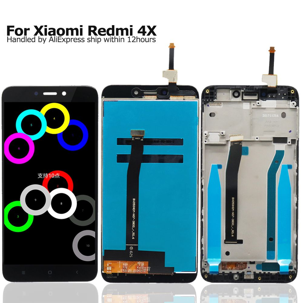 LCD for Xiaomi Redmi 4X Display + Touch Screen Digitizer Assembly with Frame for Xiaomi Redmi 4X Replacement