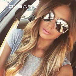 Anhelar Vintage clásico marca diseñador piloto de las gafas de sol hombres conducción UV400 espejo gafas de sol mujer Oculos de sol