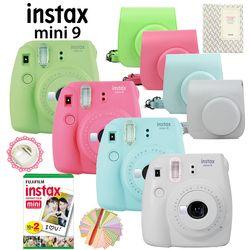 Marke Neue Fujifilm Instax Mini 9 Instant Film Kamera + 20 Aufnahmen Mini 8 Weiß Filme Fotos + Tragen Abdeckung /Album/Stift/Aufkleber