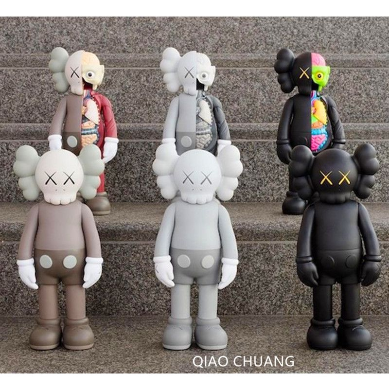 Medicom Toy KAWS OriginalFake Companion BFF Brian Street Art PVC Action Figure Collectible Model Toy S170