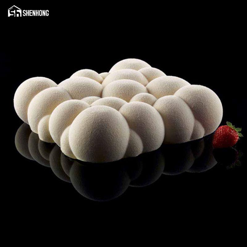 SHENHONG Irrégulière Nuage Conception Silicone Gâteau Moule 3D Gâteau Gelée Pudding Cookie Muffin Savon Moule DIY Moule de Cuisson Outils